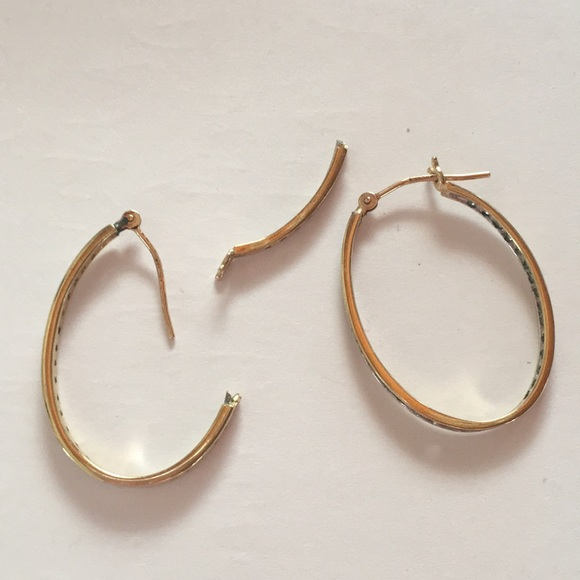 73 off Jewelry Broken Gold Hoop Earrings Poshmark